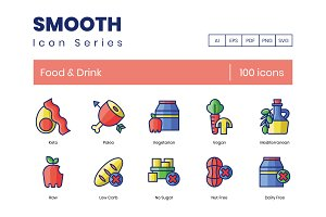 100 Food & Drink Icons | Smooth