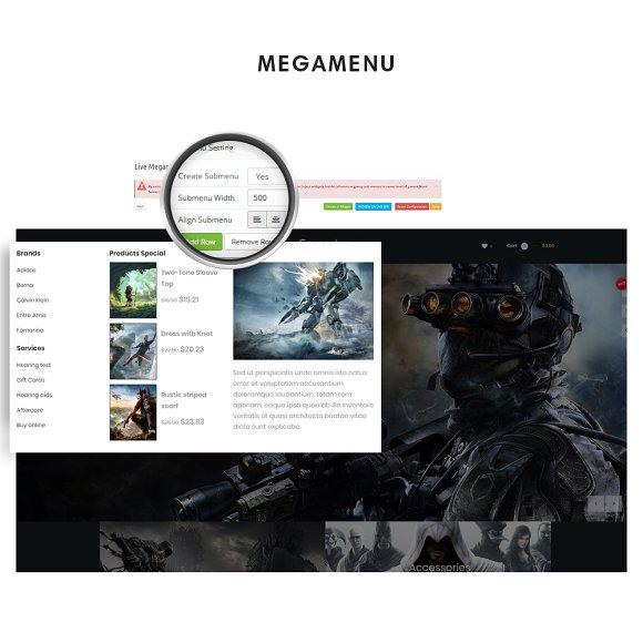 Leo Gamestop - Games Store Prestasho in Website Templates - product preview 1
