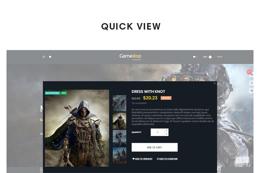 Leo Gamestop - Games Store Prestasho in Website Templates - product preview 4