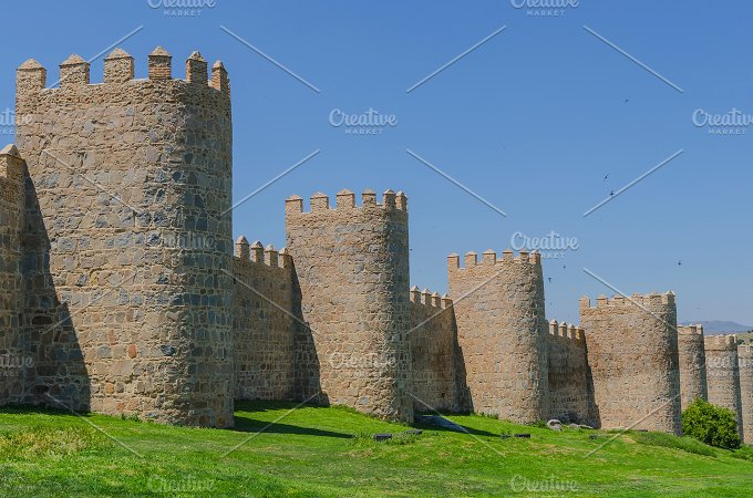 Spain. Avila unesco city. - Architecture