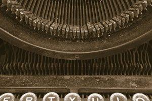 Vintage typewriter sepia