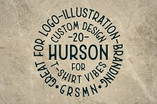 [30% OFF] Hurson Font by  in Display Fonts