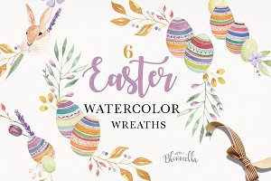Easter Watercolor Wreath Bunny Kit