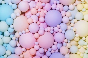 background of colored round foam bal