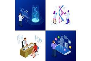 Isometric DNA helix, DNA Analysing