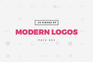[Pack 02] 25 Modern Logo Templates