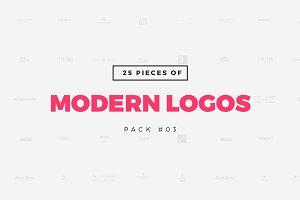 [Pack 03] 25 Modern Logo Templates