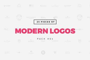 [Pack 04] 25 Modern Logo Templates
