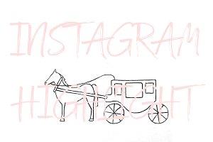 Bruges Belgium Horse Carriage Icon