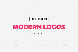 [Pack 05] 25 Modern Logo Templates