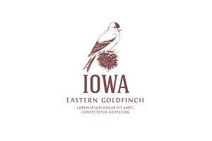 Vintage Logo Goldfinch Bird
