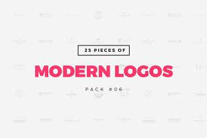 [Pack 06] 25 Modern Logo Templates