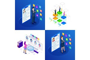 Isometric set of online job search