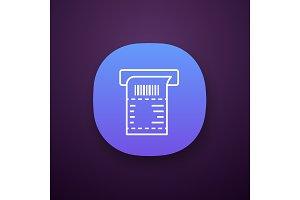 ATM receipt app icon