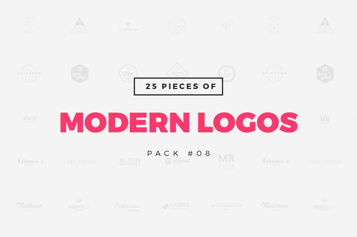 Pack 08 25 modern logo templates logo templates creative market for Template logo