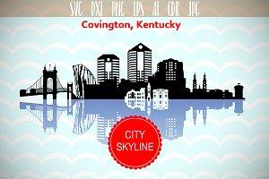 Covington Kentucky Vector Skyline