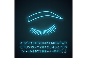 Soft arched eyebrow shape icon