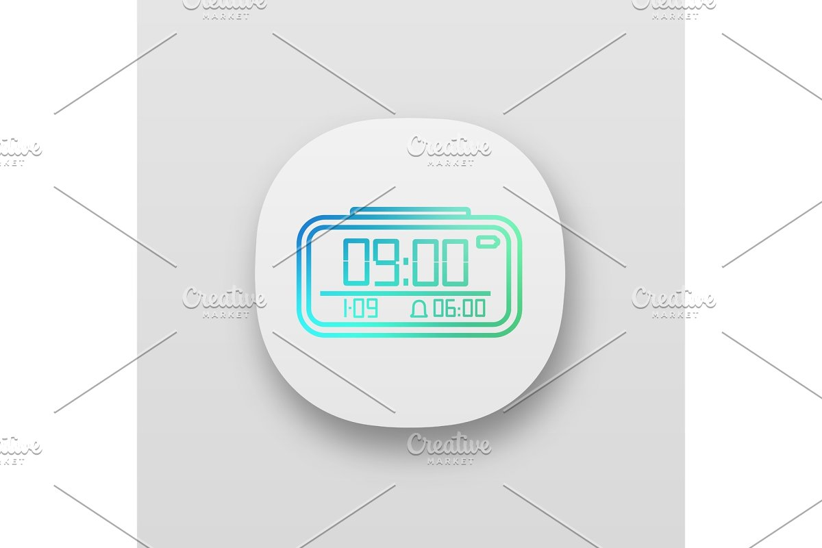Digital alarm clock app icon