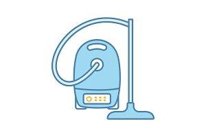 Vacuum cleaner color icon