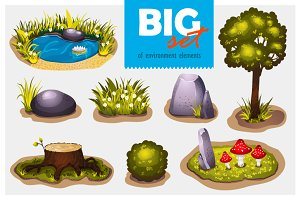 Big set of environment elements