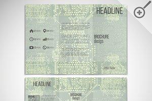 Vector set of tri-fold brochures