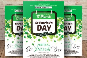 St. Patrick's Day Gold Event Flyer