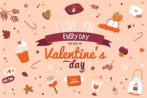 Valentines greeting cards & cliparts