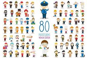 80 professions WOMEN EDITION