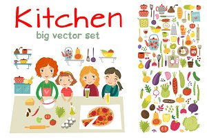 KITCHEN vector set