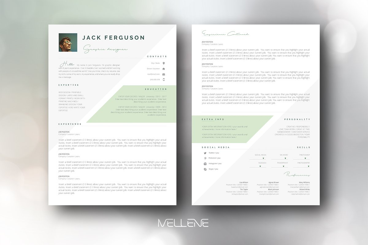 CV / Resume template - Jack