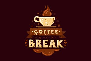 Coffee Break Vintage Poster