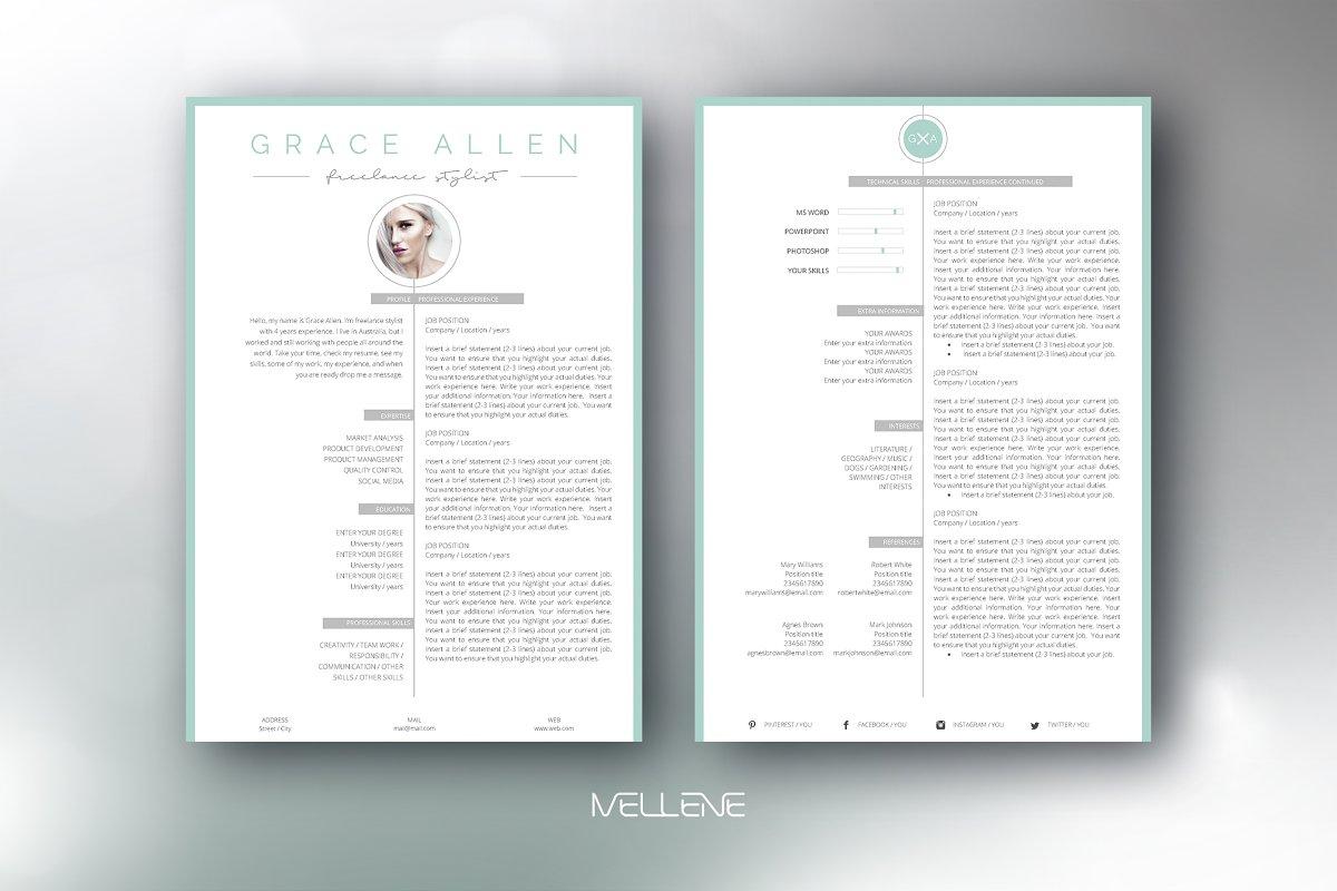 CV / Resume template - Grace