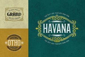 Retro Logo Templates V.02