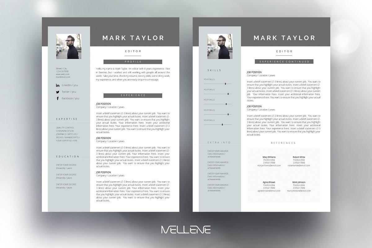 CV / Resume template - Mark