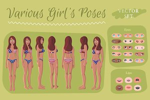 Various Girl's Poses