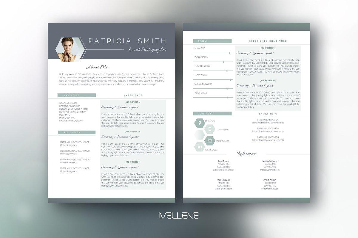 CV / Resume template - Patricia