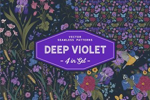 Deep violet. Seamless Patterns
