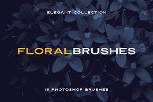 Elegant Floral Brushes for Photoshop