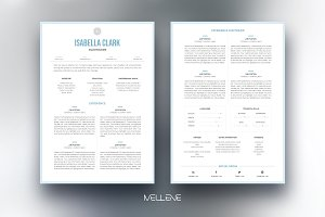 CV / Resume template - Isabella