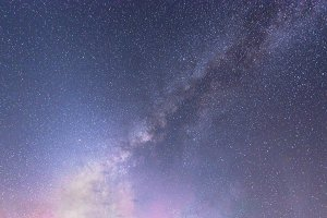 Milky way galaxy with stars at night