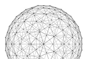 Structure of sphere with network con