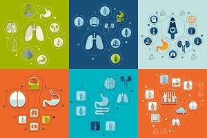9 medicine flat infographics