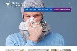 Pharmland - Drugstore WP Theme