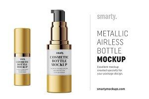 Metallic airless mockup / 15 ml