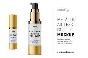 Metallic airless mockup / 30 ml