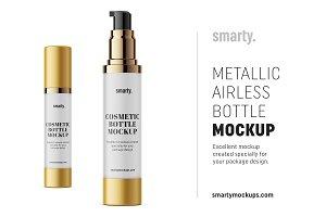 Metallic airless mockup / 50 ml
