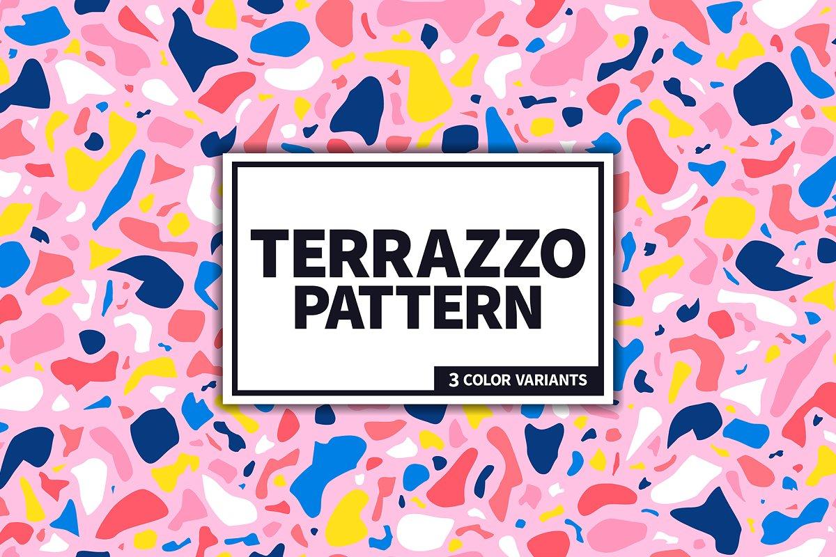 Terrazzo seamless pattern
