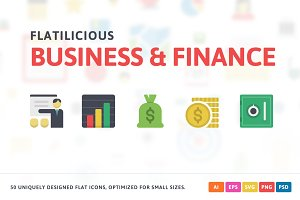 Business & Finance Flat Icons