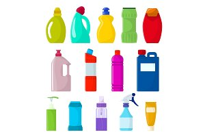 Detergent bottle vector plastic
