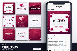 Valentine's Day Social Media Banners